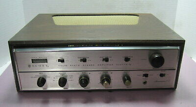 Scott LK-60 Integrated Stereo  Amplifier==Wood Cabinet & Sounds Great!