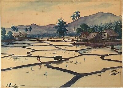 early/mid 20th C Indonesian School watercolour paintings