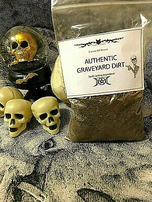 6oz FRESH Authentic Old Cemetery Graveyard Dirt~Witchcraft, Voodoo ,Casting
