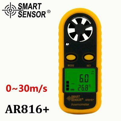 Wind Speed Gauge Air Flow Anemometer Meter Sensor AR816+ Measuring Instruments