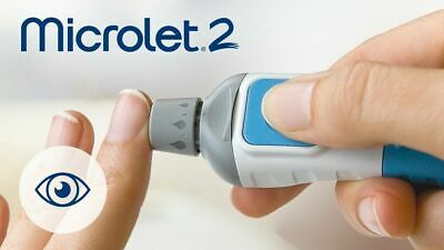 Microlet 2 Lancing Device For Diabetes Testing BAYER NEW FREE SHIPPING