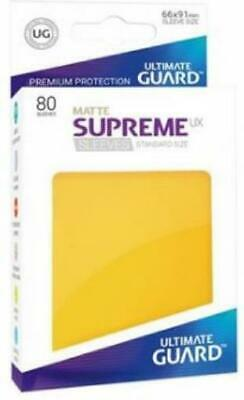Ultimate Guard Standard Sleeves Supreme UX - Matte Yellow (80) MINT