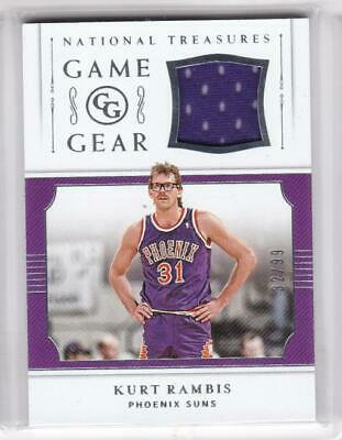 2018-19 Kurt Rambis #/99 Jersey Panini National Treasures Suns