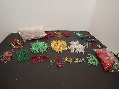Huge Lot Ceremic Tree Lights Plastic 1990'S Globe Assorted Creative