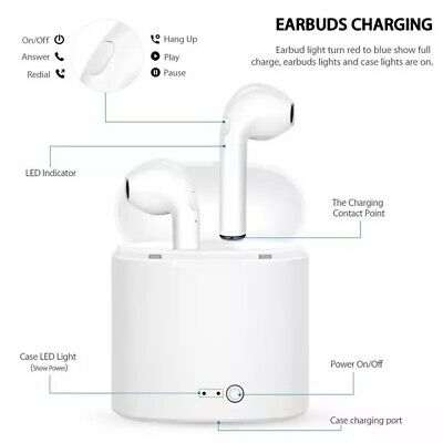 Bluetooth Earphones For iPhone Android Samsung Wireless Earbuds Airpods