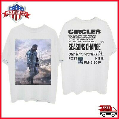 Post Malone Circles Standing Hollywood's Bleeding Album 2019 T Shirt Full Size