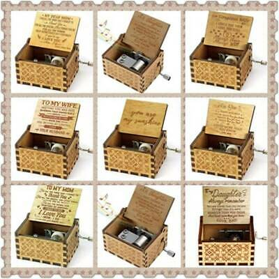 Wooden Engraved Music Box Best Gift for Mom/Dad To Daughter/Son/Wife/Husband/Mum