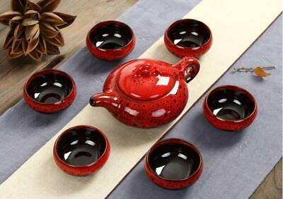 6 Tea Cups 1 Tea Pot 7Pcs Ceramic Tea Sets Taiwan Crack Kung Fu Tea Set Creative