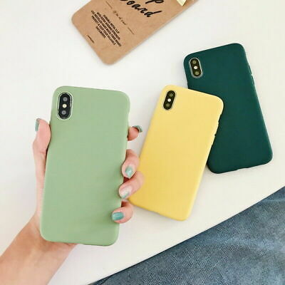 Frosted Matte Candy Soft Silicone Case Cover Anti-fall for IPhone 7 8 Plus X XS