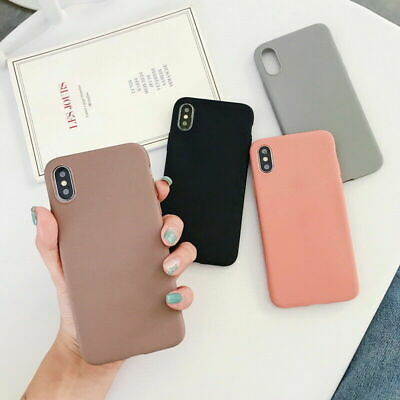 Frosted Matte Candy Soft Silicone Case Cover Anti-fall for IPhone 7 8 Plus XR XS