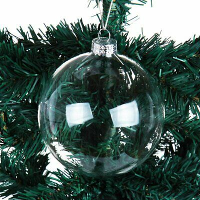 8/10cm Glass Ball Clear Transparent Bauble Candy Box Christmas Wedding Baubles