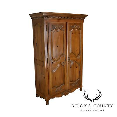 Ethan Allen French Country Style Pine 2 Door Armoire