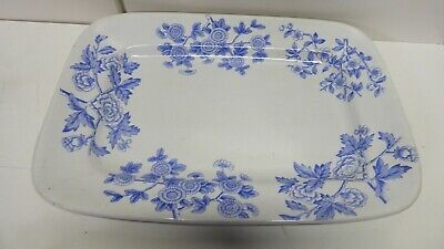 A.f &S Antique Pottery Collingwood Blue & White Ceramic Platter Charger Plate