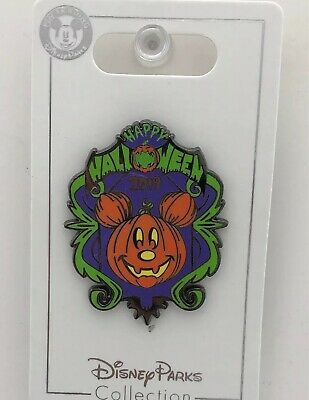 Disney Parks Trading Pin Happy Halloween 2019 Mickey Mouse Pumpkin