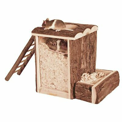 Trixie Natural Living Play and Burrow Tower Toy for Mice & Dwarf Hamsters - Wood