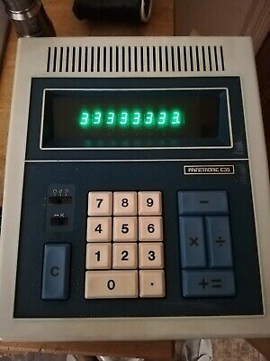 VINTAGE 1970s PRINZTRONIC C35 CALCULATOR GREEN LED 8 DIGIT SCREEN