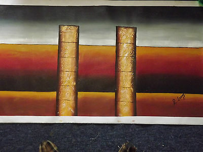 abstract large long oil painting canvas modern art contemporary modern original