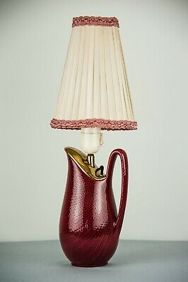Ceramic Table Lamp Made in Sweden, Around 1950s