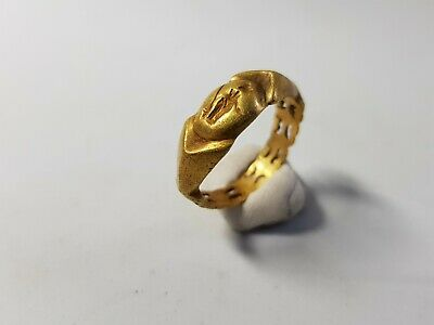 Roman Gold Ring with Fortuna  2nd-3rd century AD.