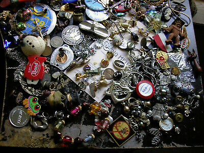 LOT OF 175+ JUNK DRAWER MISC. ITEMS JEWELRY COINS RINGS watch earring pins as-is