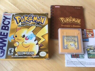 Pokemon Yellow Version! Complete! Look In The Shop!