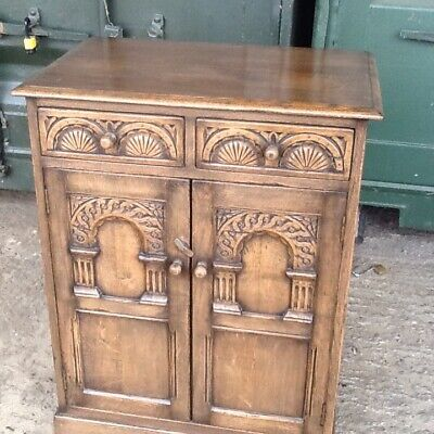 Oak side cupboard mid 20th century