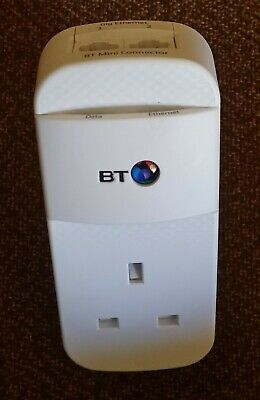 Single BT Mini Connector  Powerline Adapter with 2 Gigabit Ethernet ports