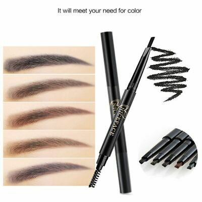 Long Lasting Eyebrow Pencil Brow Tint Automatic Rotate Double Head with Brush