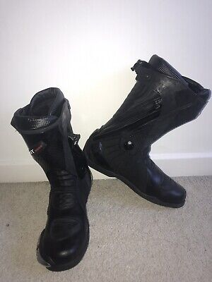 Ghost Cougar Black Leather Motorcycle Boots - Size 10 - BNWOB