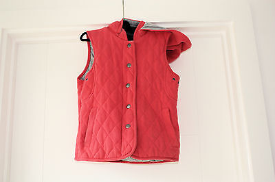 Bodywarmer Girls  Orange  / Salmon Pink  Hooded  Age 10 / 11 Year Candy Couture