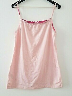 marks & Spencer ladies VINTAGE camisole size 12 - pink new