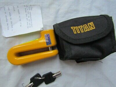 TITAN DISC-LOCK MOTORCYCLE with pouch never used / selling as used