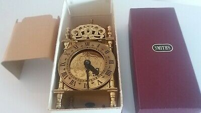 Rare Nell Gwynne Smiths 240v Brass Lantern Carriage clock.In Original packaging.