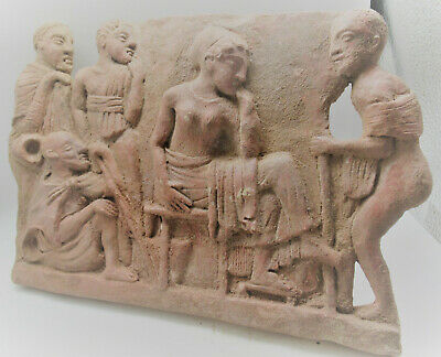 Scarce Ancient Near Eastern Terracotta Relief Panel, 2000Bce, Approx 20 X 30Cm