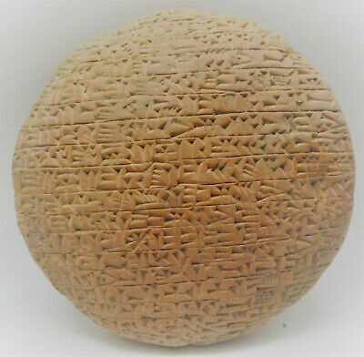Circa 3000Bce Ancient Near Eastern Clay Tablet With Early Form Of Writing Huge