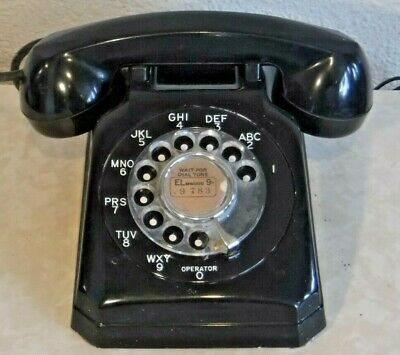 Stromberg Carlson Mid Century Modern Rotary Dial Desk Set Telephone No.1543-A