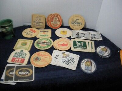 Vintage 33 pc  lot  Mixed Pub Beer Advertising Drink Bar Coasters
