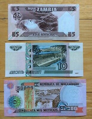 3 Different Mix World Banknotes Unc Set G - Dam Collection