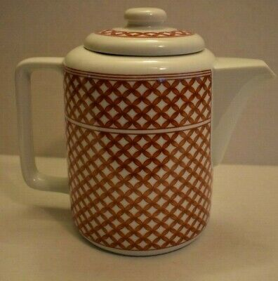 Vintage Red and White Wickerweave Teapot, Georges Briard