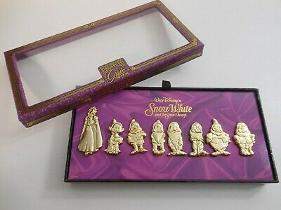 Disney Imagination Gala Snow White 7 Dwarfs AWARD CEREMONY PIN SET Dopey Grumpy+