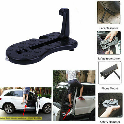 Portable Door Hook Mini Folding Foot Pedal Latch Step SUV Car Truck Ladder