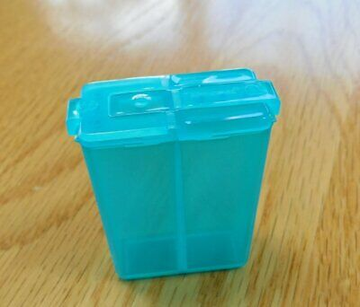 Vintage Tupperware Personal Mini Pocket Salt & Pepper Shaker 1861~Teal Green~NEW