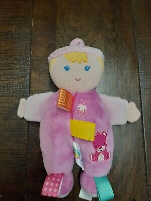 Taggies Pink Doll Lovely Plush Baby Toy 25Cm Long