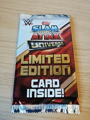 WWE Slam Attax Universe Limited Edition Card Pack New Sealed