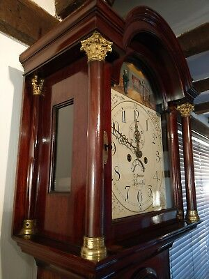 Unique Antique Horncastle 8 Day Automata Mahogany Grandfather Clock Circa 1820