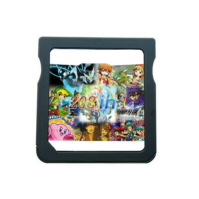 208 in 1 DS Games Cartridge Gaming for DS DS Lite DSi 3DS 2DS Top Games