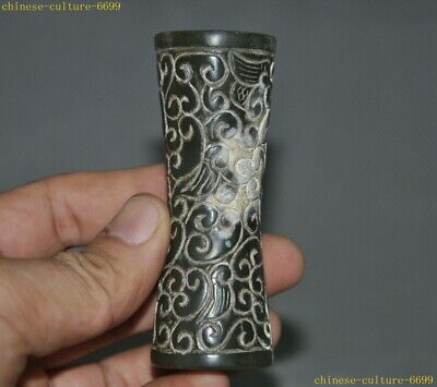 Chinese Hetian Old jade Hand-carved Ruyi pattern Exorcism amulet Pendant statue