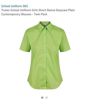 Trutex Limited Girls Pack of 2  Easy Care Plain Blouse