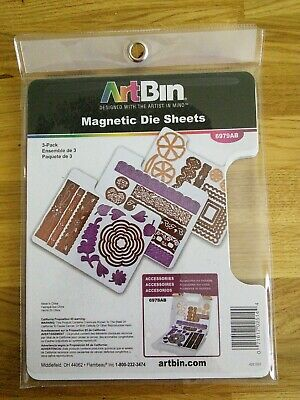 6978AB with 2 additional Magnetic Die Sheets 3 Pack 6979AB ArtBin Bundle includes ArtBin Magnetic Die Storage Case