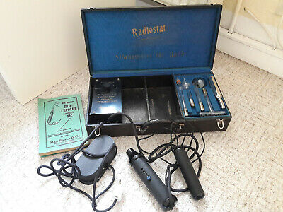 Big Working Vintage Violet Ray Machine RADIOSTAT 4 Wands High Frequency